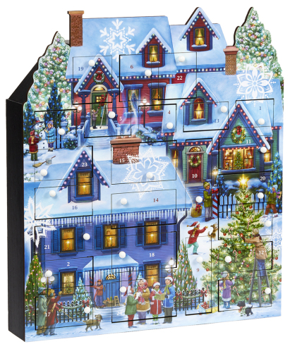 Christmas Houses Wooden Advent Calendar
