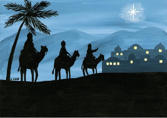 Magi from East Christmas Card