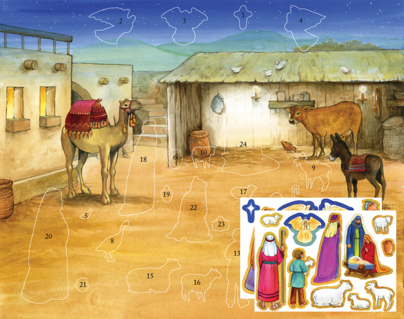 Bethlehem's Child Sticker Advent Calendar