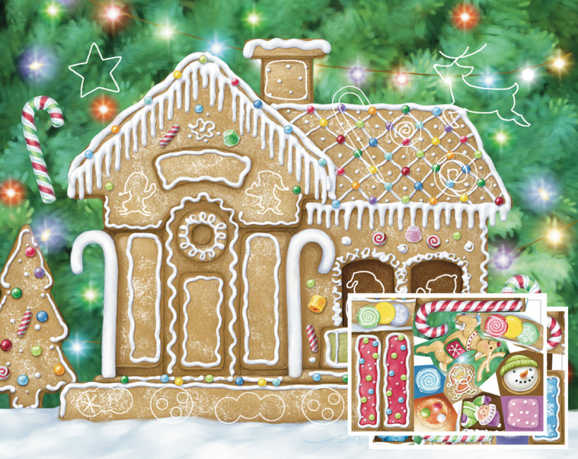 Gingerbread House Sticker Advent Calendar