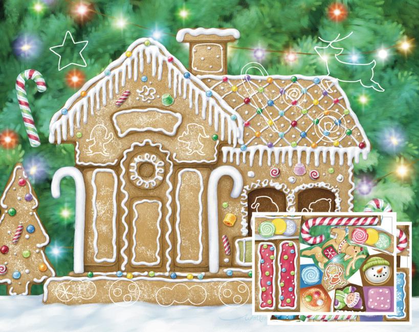 Gingerbread House Sticker Advent Calendar