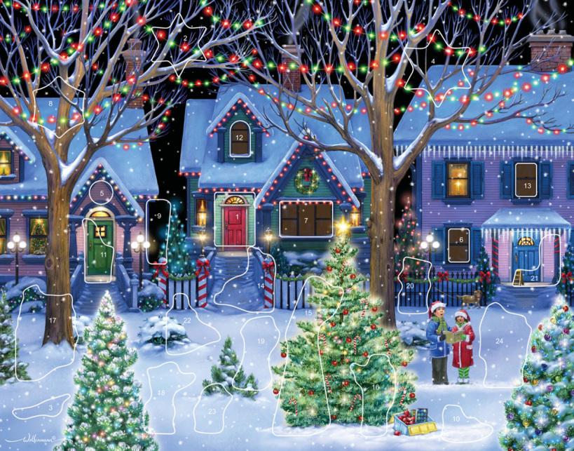Christmas Cheer Sticker Advent Calendar