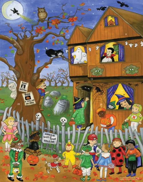 Halloween Trick or Treat Countdown to Halloween Calendar