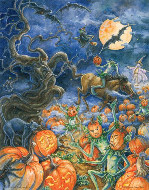 The Headless Pumpkin Countdown to Halloween Calendar