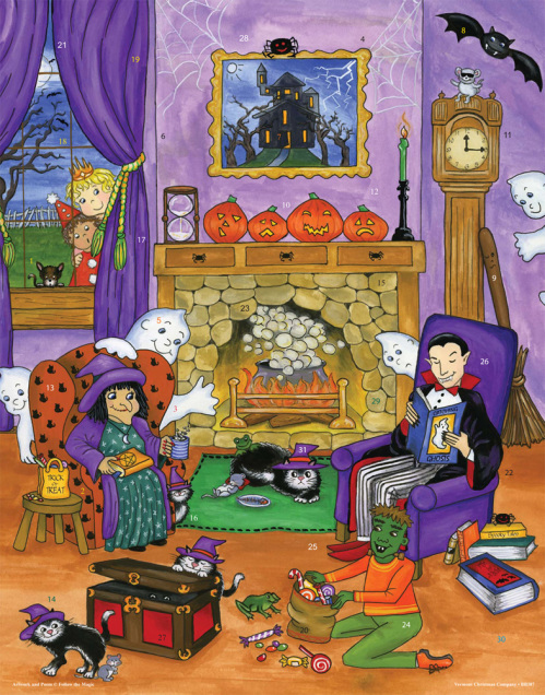 Halloween Story Time Countdown to Halloween Calendar