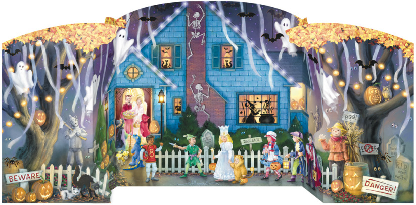 Ghostly Gathering Countdown to Halloween Calendar