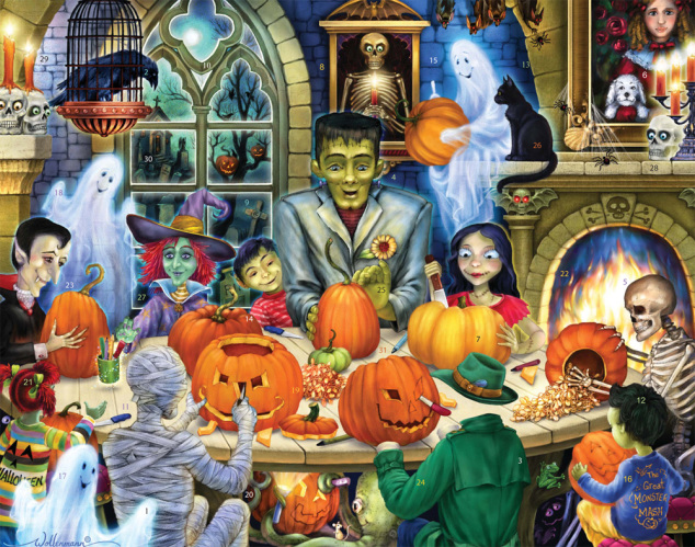 Haunted House Party Countdown to Halloween Calendar