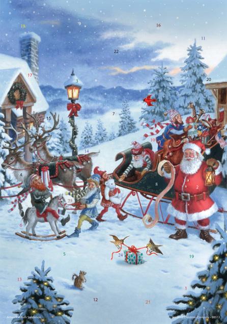 Christmas Eve Advent Calendar w/ Env
