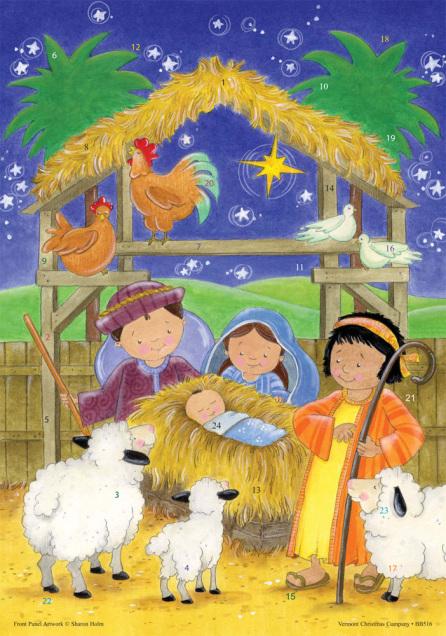 Newborn King Advent Calendar w/ Env