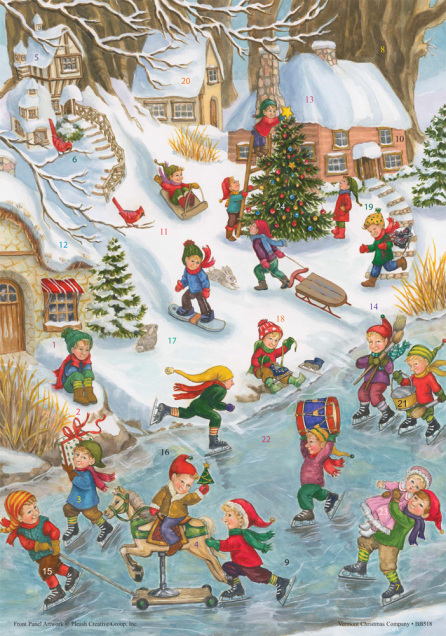 Wonderful Winter Advent Calendar w/ Env