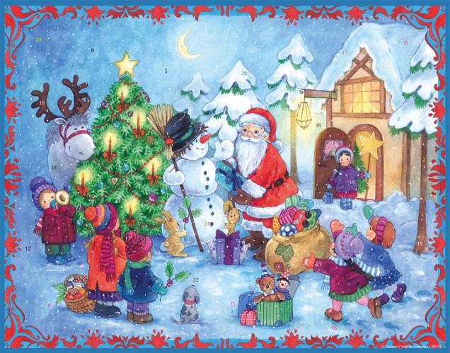 santas welcome advent calendar large fun amp whimsical