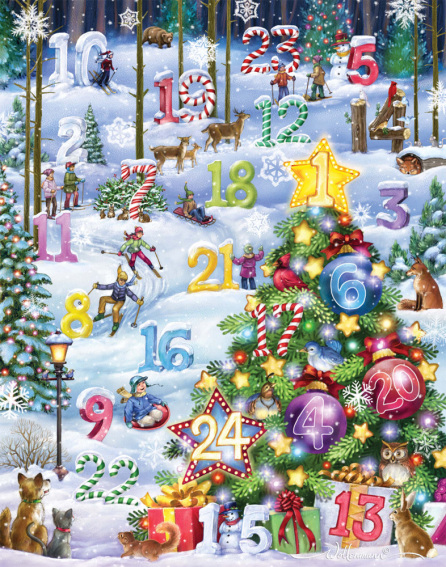 Snowy Slalom Advent Calendar