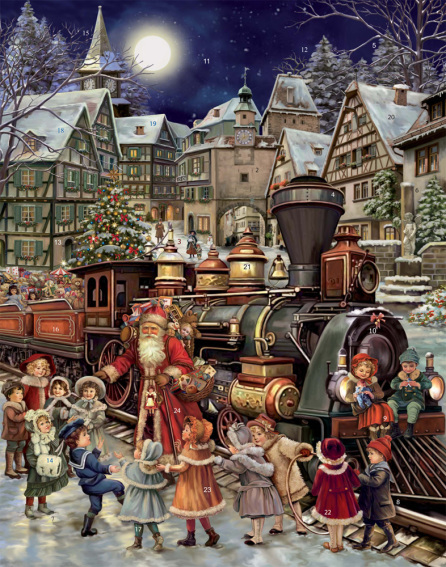Santa's Rail Stop Advent Calendar