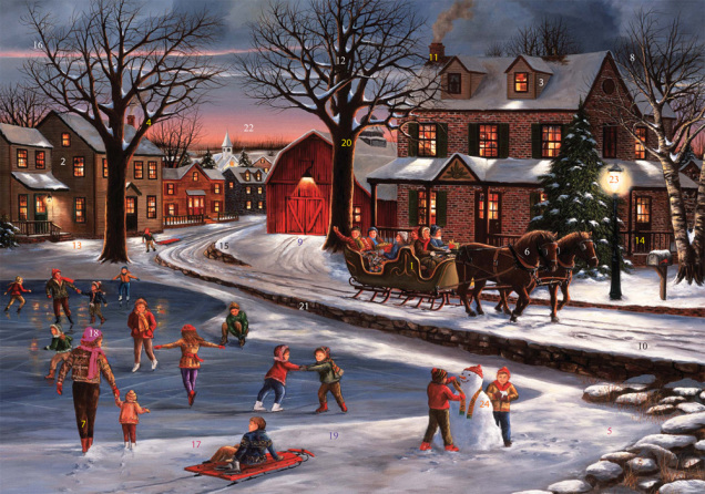 Christmas In Vermont.Heart Of Christmas Advent Calendar Medium Fun Vermont
