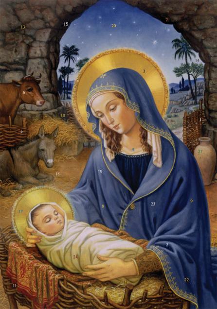 Mary with Child Advent Calendar