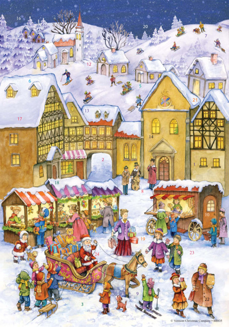 Bavarian Christmas Advent Calendar