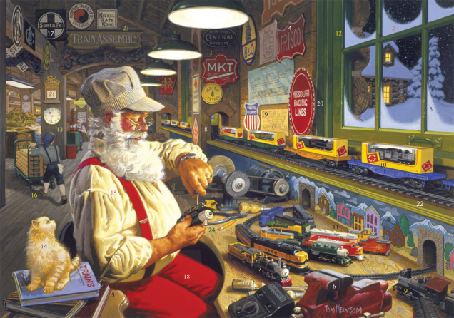 North Pole Trainworks Advent Calendar