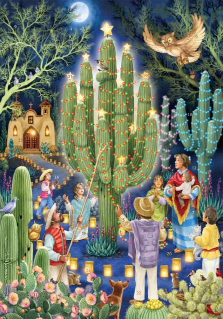 Christmas Cactus Advent Calendar