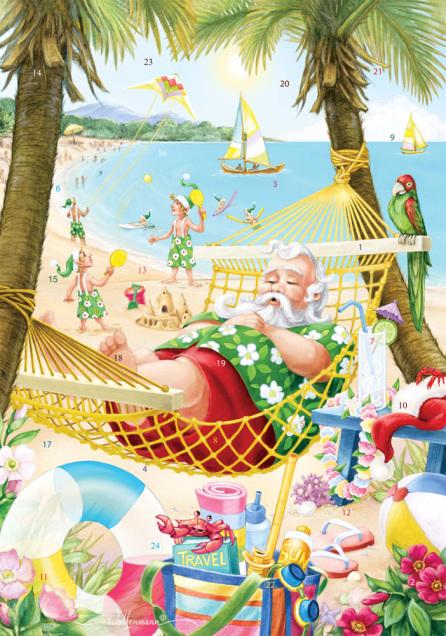 Santa's Vacation Advent Calendar