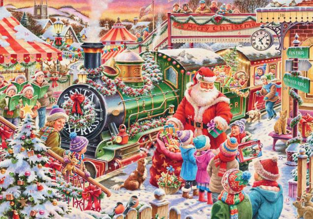 Santa's Train Advent Calendar