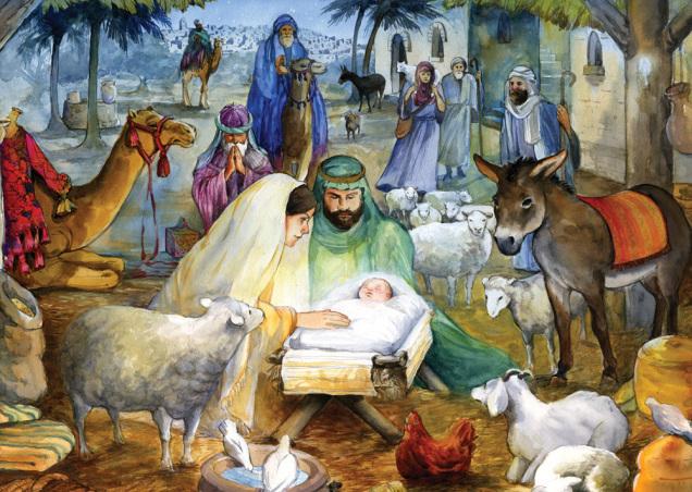 Newborn Child Christmas Card