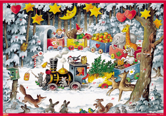 Holiday Train Advent Calendar