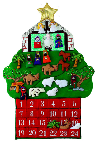 Nativity Fabric Advent Calendar