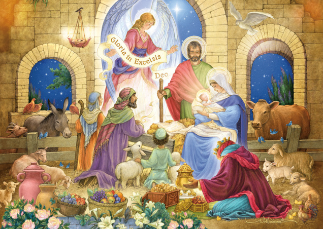 Glorious Nativity Christmas Card