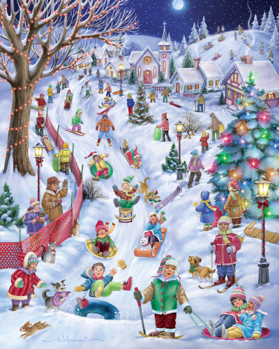Sledding Hill Jigsaw Puzzle