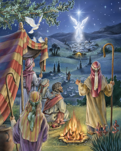 Vermont Christmas Company Stained Glass Nativity Jigsaw Puzzle 1000 Piece