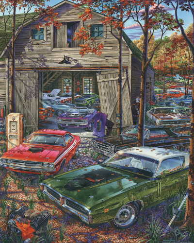 Cars on the Farm Jigsaw Puzzle
