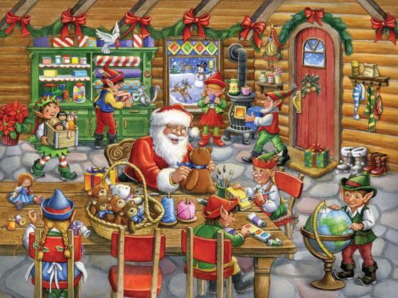 Santa's Workshop Jigsaw Puzzle, 500-550 Piece Puzzles