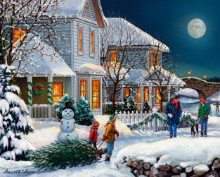 Holiday Walk Jigsaw Puzzle