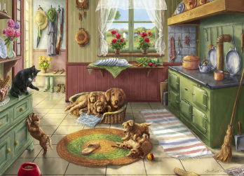 Golden Puppies Jigsaw Puzzle