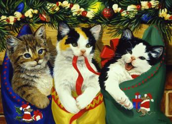 Christmas Kittens Jigsaw Puzzle
