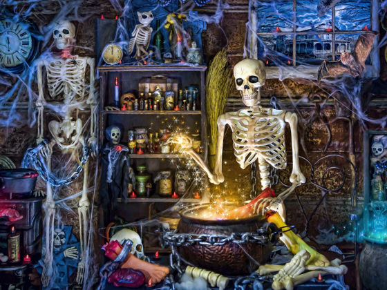 Skeleton's Stew Jigsaw Puzzle