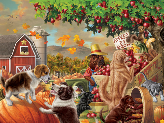 Harvest Market Hounds Jigsaw Puzzle