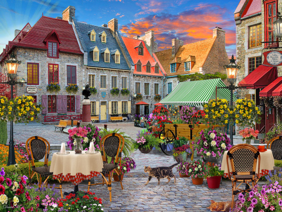 Village Square Jigsaw Puzzle