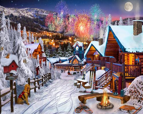 Winter Playground Jigsaw Puzzle