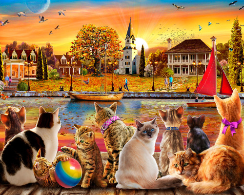 Dockside Cats Jigsaw Puzzle
