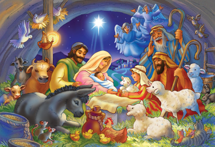 Baby in a Manger Jigsaw Puzzle