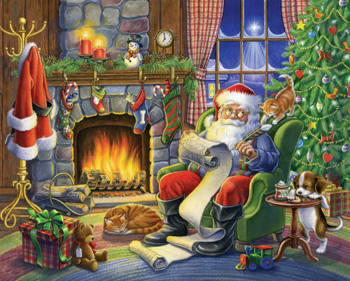 Naughty Or Nice Jigsaw Puzzle, Christmas