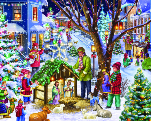Neighborhood Nativity Jigsaw Puzzle