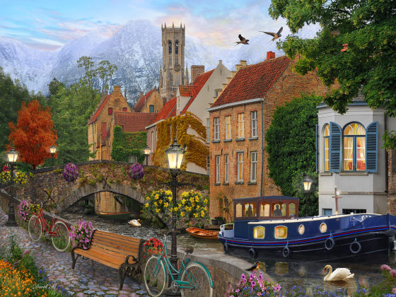Canal Living Jigsaw Puzzle