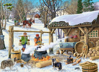 Maple Syrup Time Jigsaw Puzzle