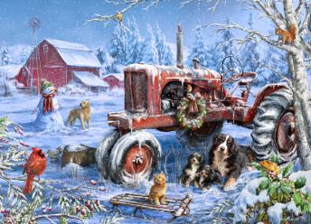 Christmas on the Farm Jigsaw Puzzle