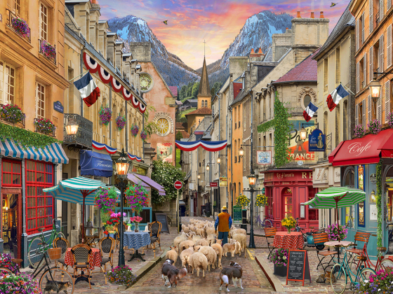 French Village Jigsaw Puzzle
