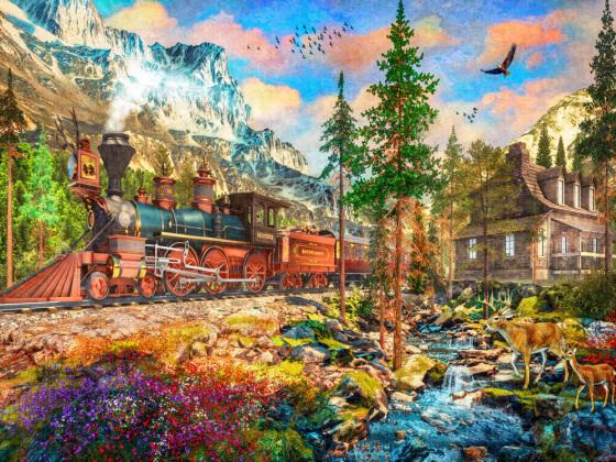 Mountain Train Jigsaw Puzzle