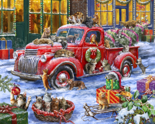 It's a Cats' Christmas Jigsaw Puzzle