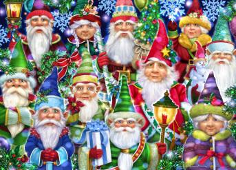 Christmas Gnomes Jigsaw Puzzle